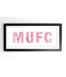 MUFC Typographic Art